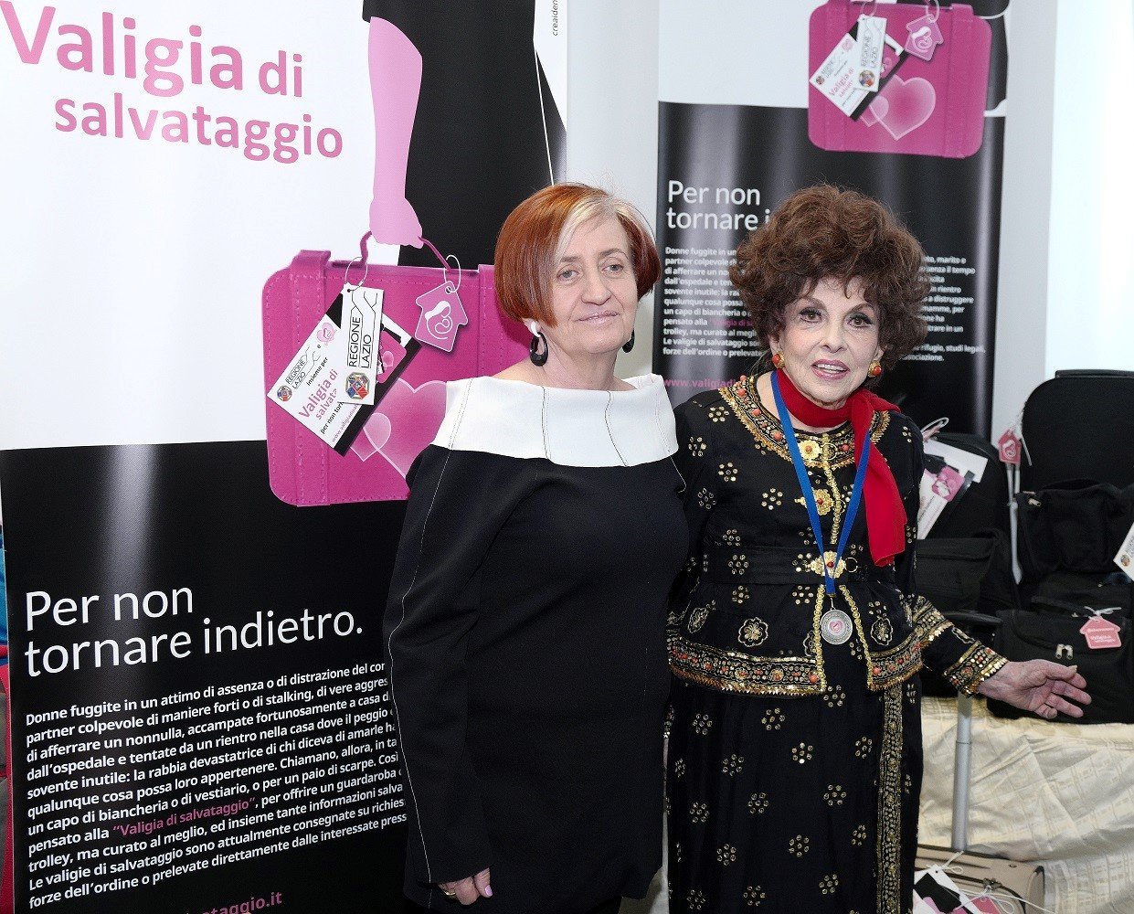 Grazia Passeri e Gina Lollobrigida