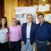 da ds sindaco Vico, direttore Pizza a metro, G.Rivieccio, M.Dell'Amurae ass.turismo
