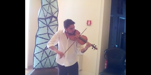 Il violinista Luigi Cavaliere