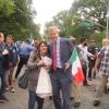 mariangela petruzzelli e Bill De Blasio sindaco di N.Y.