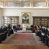 Il papa e la delegazione ecumenica foto Vatican Media