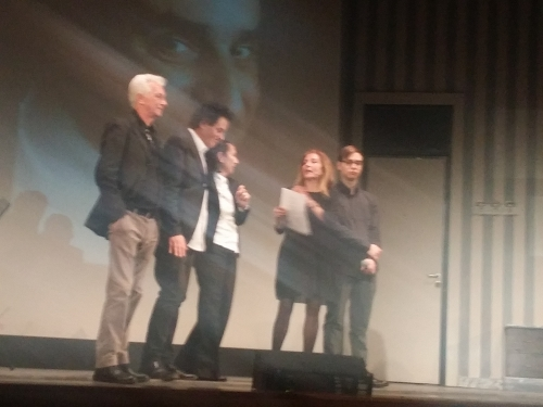 a six: Gianni Conte, Sergio Marra, Paola Bellissimo, Rosaria De Cicco e Daniel Bellissimo