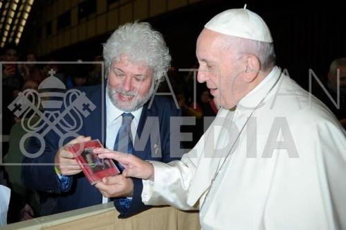 Espedito De Marino con Papa Francesco