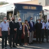 La Raggi alla presentazione bus nuovi foto G.Nitti
